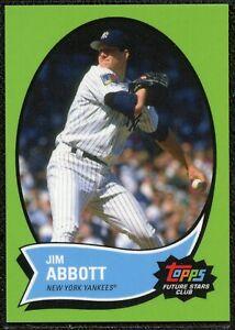 2021 Topps Future Stars Club June JIM ABBOTT #2 New York Yankees