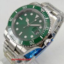 40mm BLIGER green dial luminous Japan NH35A automatic mens watch Sapphire glass