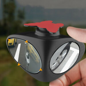 2 in 1 Car Blind Spot Mirror Wide Angle 360° Convex Tool Truck Rearview Mirror