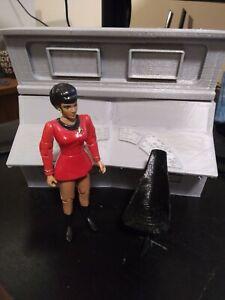 Playmates Star Trek Bridge diorama Uhura Communications Console w/chair!
