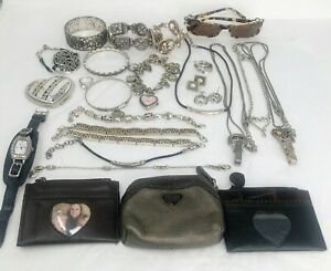 Brighton Lot of 25 Bracelets Necklaces Etc for REPAIR Parts DAMAGED TARNISHED