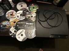 ps3 console slim 320 Gb Used + Title Games + Camo Controller