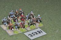 20mm medieval / crusader - crossbowmen 15 figures - inf (25281)