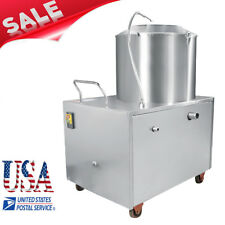 Commercial Potato Peeler Automatic Sweet Potato Peeling Cleaning Machine US SHIP