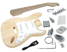 Solo Strat Style DIY Guitar Kit, Basswood Body, w/ Hard Maple Fret board, STK-1M