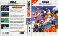 Sonic Chaos Sega Master System Replacement Box Art Case Insert Cover Scan Repro.