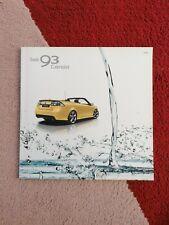 Saab 93 9-3 Cabriolet Cabrio 2009 Prospekt Brochure Depliant Catalog Catalogue