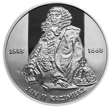 POLAND 10 ZLOTYCH 2000 Silver PF JAN II KAZIMIERZ I TYPE1
