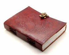 LEATHER JOURNAL PURE LEATHER BLANK PAGE EMBOSSED BLANK HANDMADE DIARY