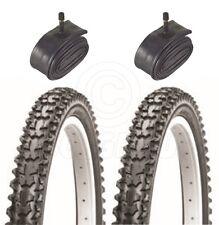 2 pneus de vélo - VTT - 26 x 2.125 - Avec Chambre à Air Schrader