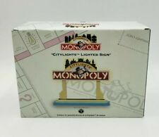 "DEPT 56 Monopoly ""CityLights"" 4.5"" Lighted Village Sign New/Sealed"