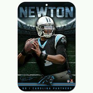 "CAM NEWTON CAROLINA PANTHERS 11""X17"" PLASTIC SIGN DURABLE POSTER"