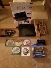 PS3 Console CECH-3001A 2 Controllers 5 Games in Original Box TESTED