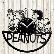 Peanuts Vinyl Record Wall Clock Decor Handmade 5721