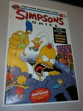 THE SIMPSONS #1 - FF #1 COVER SWIPE NM POSTER STILL INSIDE - BONGO COMICS/1993