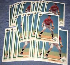 CHIPPER JONES 1991 Upper Deck RC #55 Rookie 25 Card Lot Braves GEM MT - MINT !!
