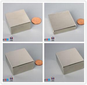 "N52 Powerful1 1/2""dia 2""dia 38mm 50.8mm Rare Earth Neodymium Square Block Magnet"