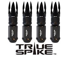 "32 TRUE SPIKE 101MM 9/16"" FORGED STEEL LUG NUTS W/ BLACK POSEIDON SPIKES"