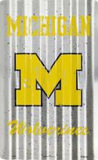 MICHIGAN UNIVERSITY WOLVERINES CORRUGATED Sign GAME DORM ROOM Football Man Cave