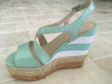 "WOMENS, WITTNER, "" WAKELEY"" WEDGE STRAP SHOES, SIZE 36, GREEN, LEATHER NWOT"