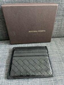 Bottega Veneta Black Intrecciato Leather 6 Slots Credit Card Case Cardholder