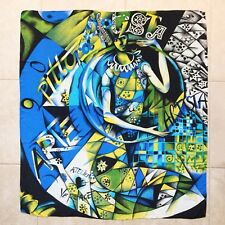 "GIANNI VERSACE silk shawl scarf Artista / Picasso print 51"" x 56"" from 1991"