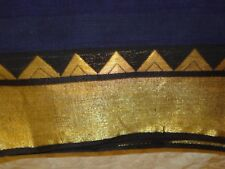 LADIES / GIRLS 100% COTTON SAREE WITH GOLD BORDER
