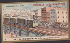 CHROMO CHOCOLAT GUERIN BOUTRON LE TOUR DU MONDE LAC BAIKAL BATEAU-LAC/TRAIN N°55
