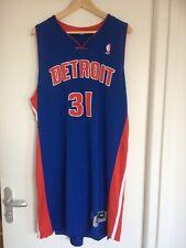 Maillot jersey basket NBA préparé game issued Detroit Pistons Meigray COA