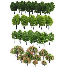 Pack of 70pcs Model Trees 1:100 Scale 3-9cm Building Park Landscape Scenery