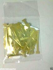 Dental Arnel Matrix T-Bands Brass Small Straight 100/Bag - 951-6041