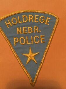Vintage Holdrege Nebraska Police Patch cheese cloth back