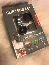 Kikkerland Clip Lens Set Smartphone or Tablet 3 Lenses iPhone iPad