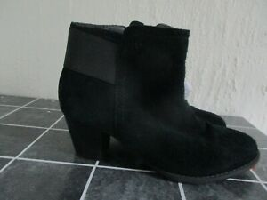 Vionic Orthotic Black Upright Elise Suede Ankle Boot FMT Technology Size 3 36