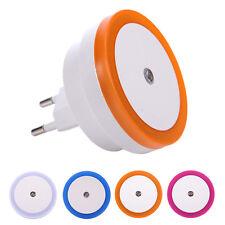 Night Light Control Auto Sensor Baby Bedroom Lamp Bathroom Toilet Light EU Plug