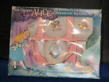 1960'S Walt Disney Alice In Wonderland Toy China Tea Set Mib