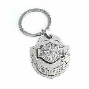 Harley Davidson Bar & Shield Logo Ribbon HD Key Chain Anhänger Schlüsselanhänger