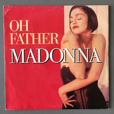 "MADONNA - OH FATHER - RED FRENCH COVER - 7"" SINGLE RARE 45 RPM FRANCE SIRE"