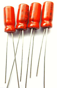 10uf 50v 85c Nover Non Polarised Bipolar electrolytic Size 11mmx5mm Pack of 4pcs