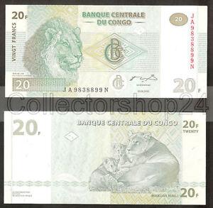Congo Dem. Rep. 20 Francs 2003 Unc pn 94