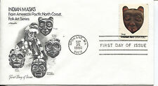 1980 INDIAN ART HEAD MASKS THIS IS BY THE TLINGIT TRIBE ARTMASTER  UNADDR  FDC