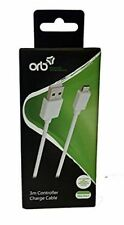 ORB 3m Long Controller Charge Cable White Compatible With Xbox One S