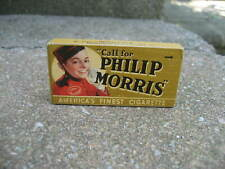 Vintage Philip Morris Cigarettes Tobacco Box...Free Sample...Near Mint!!