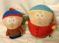 "Set of 2 South Park Phunny 8""Stan & Cartman Plush Toys"