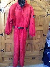 Obermeyer VTG Women's Sz 8 1-pc Ski Snow Suit Jacket Faux Fur Collar FREE SHIP!!