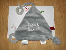 DOUDOU plat triangle gris Label Label souris