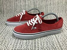 VANS AUTHENTIC CORDUROY, UK SIZE 8, BRAND NEW, MEN'S TRAINERS, RED, WHITE, SKATE