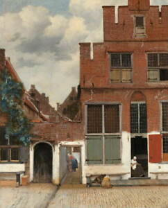 Johannes Vermeer The Little Street Poster Reproduction Giclee Canvas Print