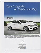 2014 magazine ad MERCEDES BENZ Cabriolet E 350 print clipping car automobile