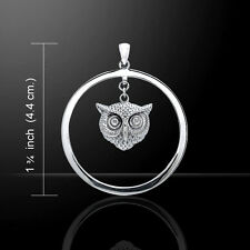 Owl .925 Sterling Silver Pendant by Peter Stone